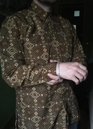 Винтажная рубашка ( унисекс) блузка