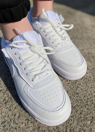 Кеды женские 🥑 air force shadow pale ivor пресс кожа кроссовки дышащие на весна лето2 фото