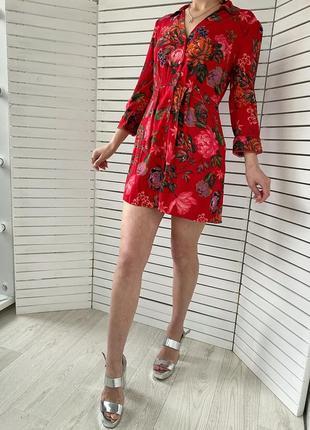 Идеальное красное платье от zara
