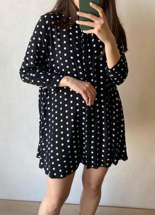 Платье в горох zara2 фото