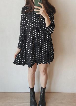 Платье в горох zara4 фото