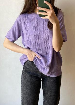 Лёгкая вязаная футболка
