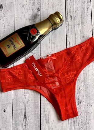 Подарочный набор трусики красные yamamay трусы s m l белье подарунковий набір білизна
