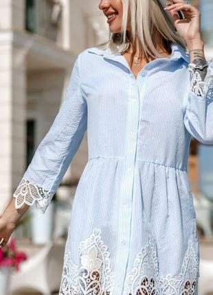 Очаровательное платье-рубашка