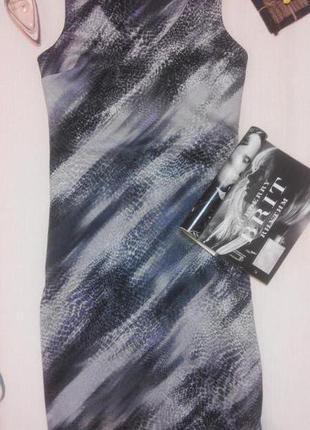 Стильное платье по фигуре из плотной ткани с вырезами на спинке от next