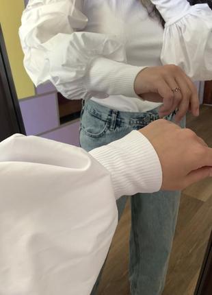 Топ zara с объёмными рукавами , рукавами буфами , нарядный
