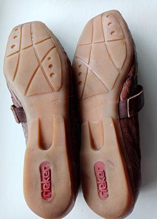 Кожаные лоферы с пуговицей туфли с перфорацией на низком ходу размер 409 фото