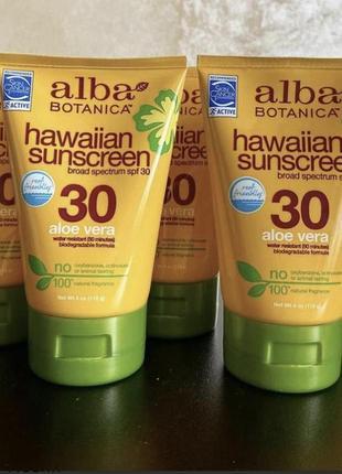 Alba botanica,натуральний сонцезахисний крем з фактором захисту spf 30 (113г)