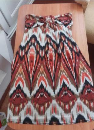 Оригинальное платье на лето с орнаментом3 фото