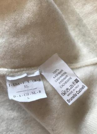 Свитер футболка кашемир brunello cucinelli cashmere кофта5 фото