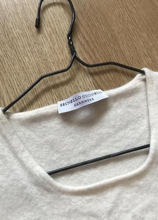 Свитер футболка кашемир brunello cucinelli cashmere кофта4 фото