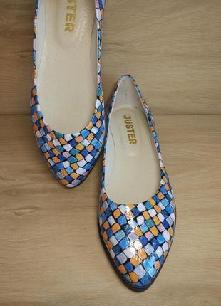 Распродажа! туфли балетки из натуральной кожи. р.36-39.4 фото