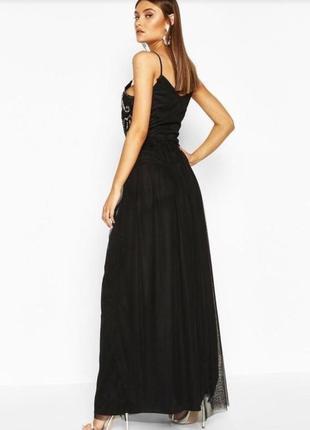 Выпускное платье вечернее чёрное платье2 фото