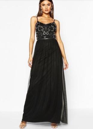 Выпускное платье вечернее чёрное платье