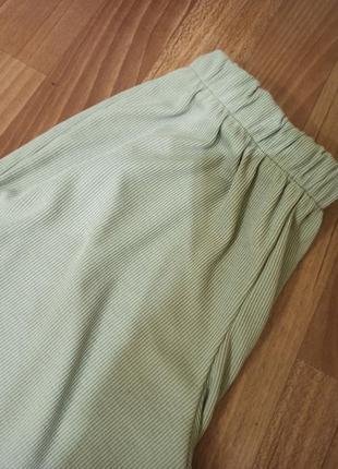 Брюки палаццо штаны клеш широкие в рубчик2 фото
