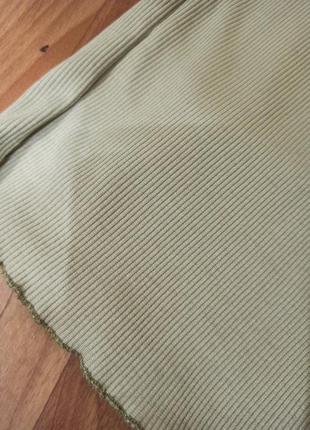 Брюки палаццо штаны клеш широкие в рубчик3 фото