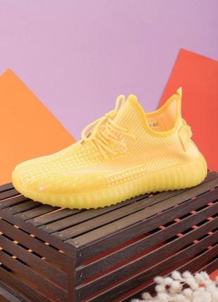 Кроссовки текстильные жёлтые