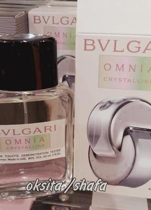 💖omnia crystallin 💖 легкий нежный аромат, тестер парфюм духи 60 мл эмираты