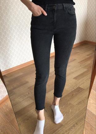 Идеальные джинсы скини на завышенной посадке new look jenna
