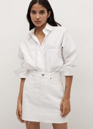 Белая юбка h&m