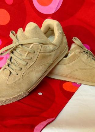 X -dream италия шикарные замшевые кеды - кроссовки песочного цвета - 38 - 39 размер