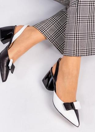 Шкіряні туфлі, босоніжки елітна колекція. італійські стандарти. кожаные босоножки с бантом
