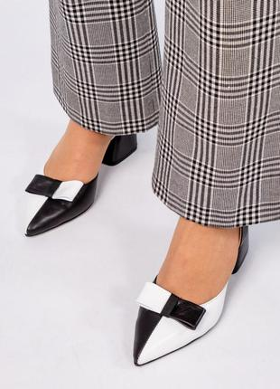 Шкіряні туфлі, босоніжки елітна колекція. італійські стандарти. кожаные босоножки с бантом2 фото
