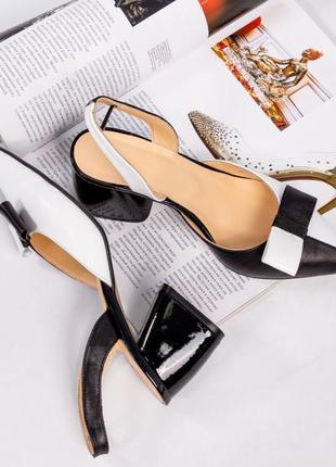 Шкіряні туфлі, босоніжки елітна колекція. італійські стандарти. кожаные босоножки с бантом4 фото