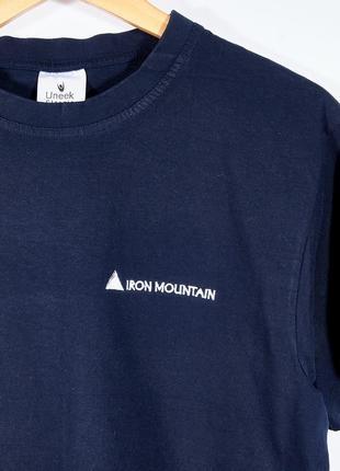 Синяя женская футболка4 фото