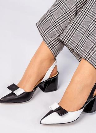 Шкіряні туфлі, босоніжки елітна колекція. італійські стандарти. кожаные босоножки с бантом5 фото