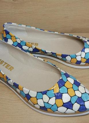 Распродажа! туфли балетки из натуральной кожи. р.36-40