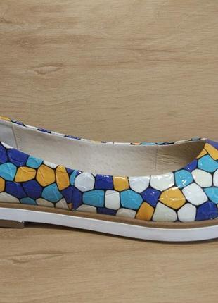 Распродажа! туфли балетки из натуральной кожи. р.36-404 фото