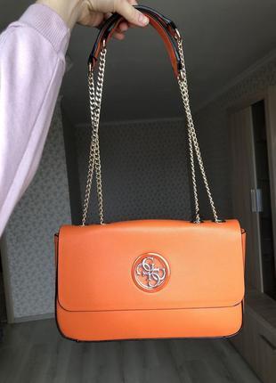 Летняя сумка наплечная кроссбоди с логотипом guess оригинал