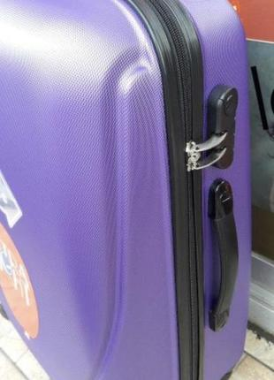 Чемодан пластиковый на колёсах, чемодан ручная кладь пластик, валіза пластик