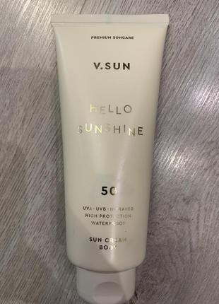Солнцезащитный крем v.sun
