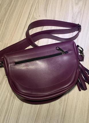 Фиолетовая сумка, бананка