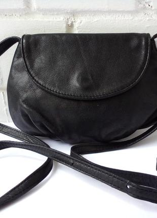 Маленькая кожаная сумочка- кроссбоди