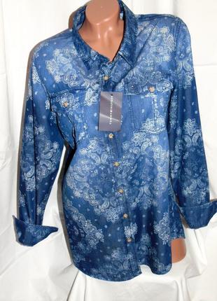 Tommy hilfiger шикарная брендовая рубашка - xl - l