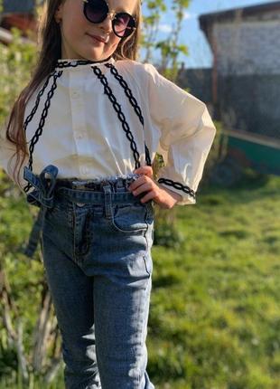 Комплект джинси і сорочка на 6р.