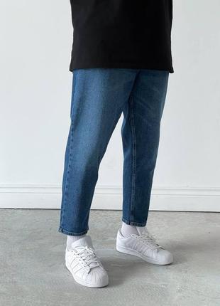 Базовые джинсы мом мужские синего цвета