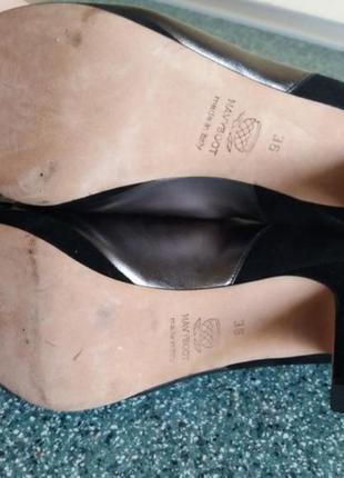 Фирменные кожаные туфли босоножки navyboot италия5 фото
