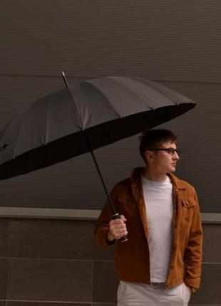 Велика президентська парасоля парасолька / купол 120 см / напівавтомат / зонт зонтик