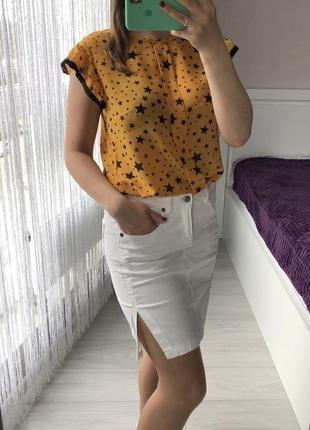 Джинсовая юбка мехх