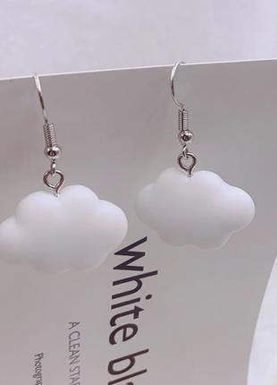 Воздушные серьги тренд 2021 облака / большая распродажа!