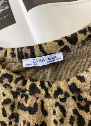 Укороченная леопардовая кофта, топ, свитшот zara4 фото