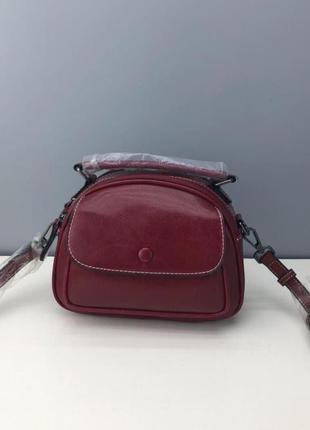 Женская стильная сумочка на плечо из натуральной кожи