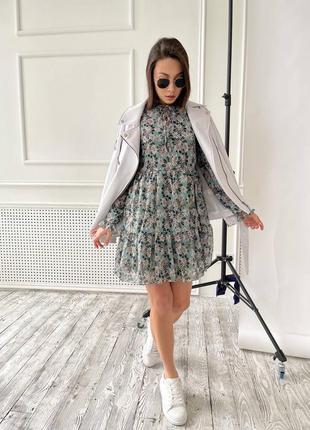 Платье шифон😍4 фото