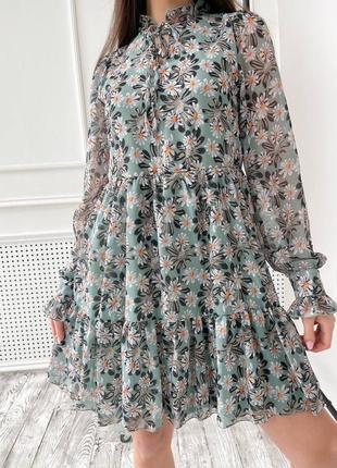 Платье шифон😍3 фото