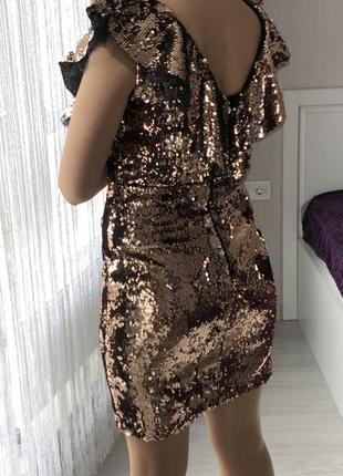 Платье в пайетки. вечернее платье2 фото