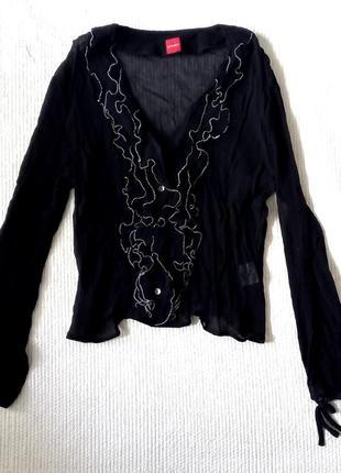 Шелковая блуза, блюза шовк, рюши, шелк1 фото